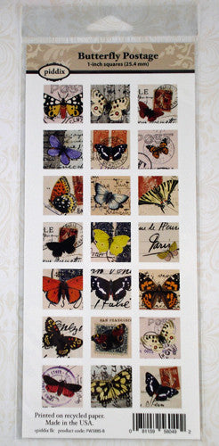 Butterfly Postage Images 1 Inch Squares ~ Piddix