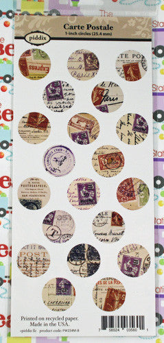 Carte Postale 1 Inch Circle Images ~Piddix