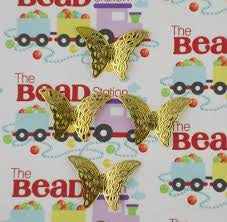 Gold Plated Butterfly Pendant ~ Pk 4