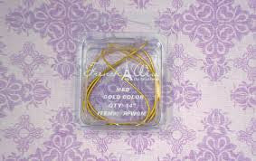 French Wire Gold Colour ~ Med