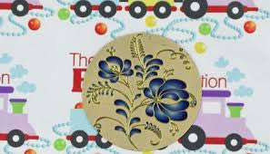 46mm Blue Flower Lazer Lace Pendant