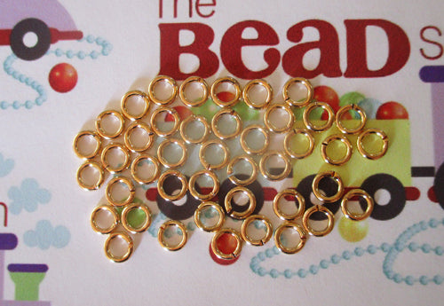 5mm Gold Plated Jump Rings  - 18g