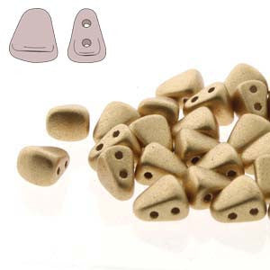 Nib-bit Bronze Pale Gold Beads