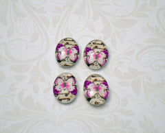 18mm x 13mm Pink Butterfly Cabochon