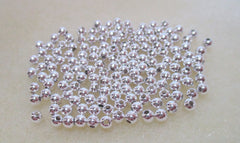 3mm Silver Plated Spacer Beads