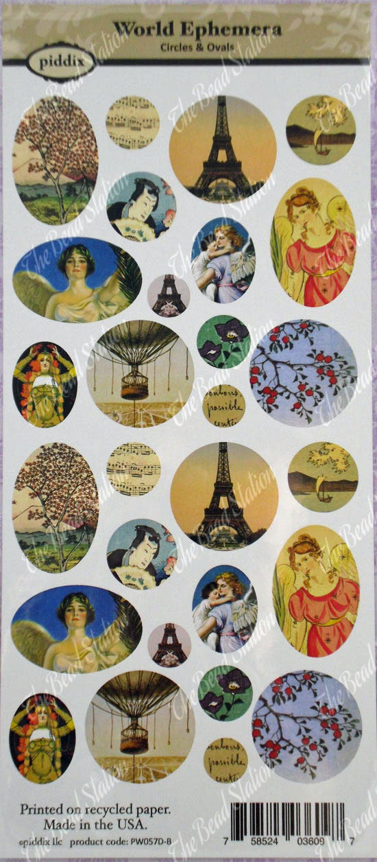 World Ephemera Images Circle & Oval  ~ Piddix