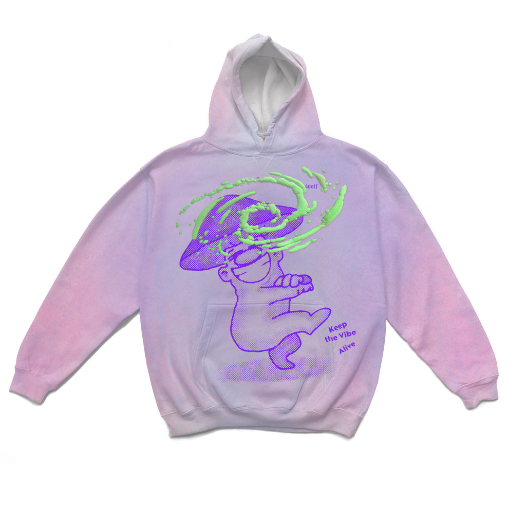 FUN GUY HOODIE DUSTY PURP-PINK PUFF 2XLARGE