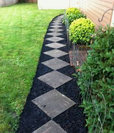 Pure granite tiles walkway