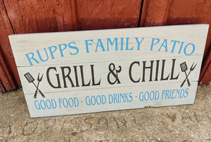 Family patio-Grill and Chill