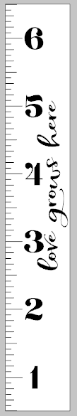 Growth Ruler - Love grows here vertical 11.5x72