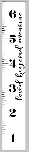Growth Ruler - Loved beyond measure vertical 11.5x72