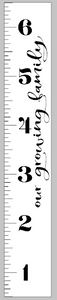 Growth Ruler - Our growing family vertical 11.5x72
