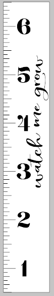 Growth Ruler - Watch me grow 11.5x72