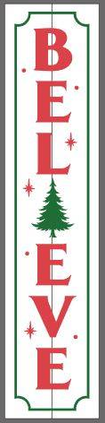 Believe with Christmas tree and border