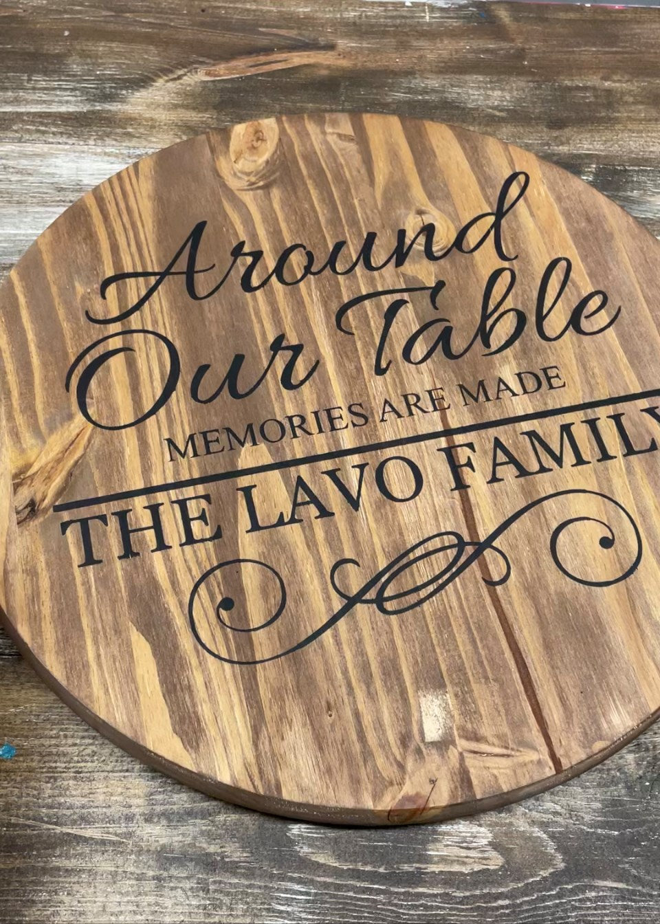 Lazy Susan - Around our table memories are made
