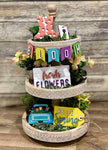 3D Tiered Tray Decor - Spring