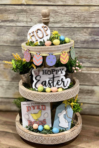 3D Tiered Tray Decor - Easter