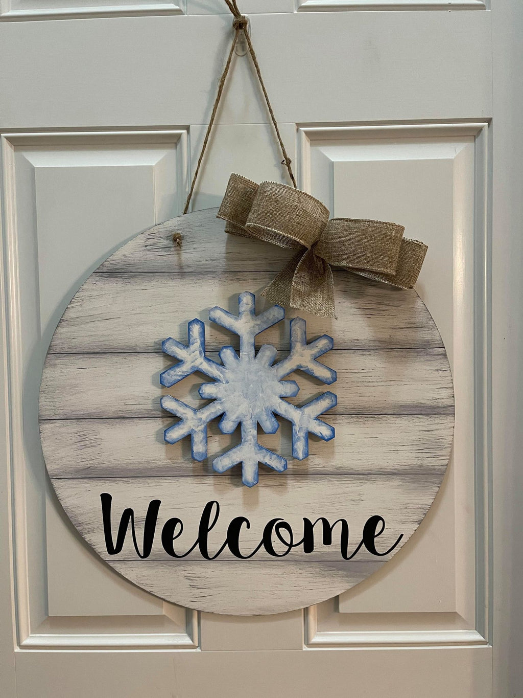 3D interchangeable door hanger Round - Welcome