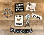 3D Tiered Tray Decor - Farmhouse