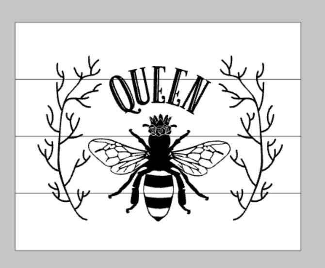 Queen Bee with Branches
