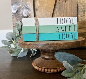 Tiered Tray Mini Book Stack - Home Sweet Home