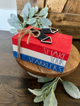 Tiered Tray Mini Book Stack - Patriotic