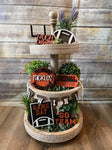 3D Tiered Tray Decor - Football