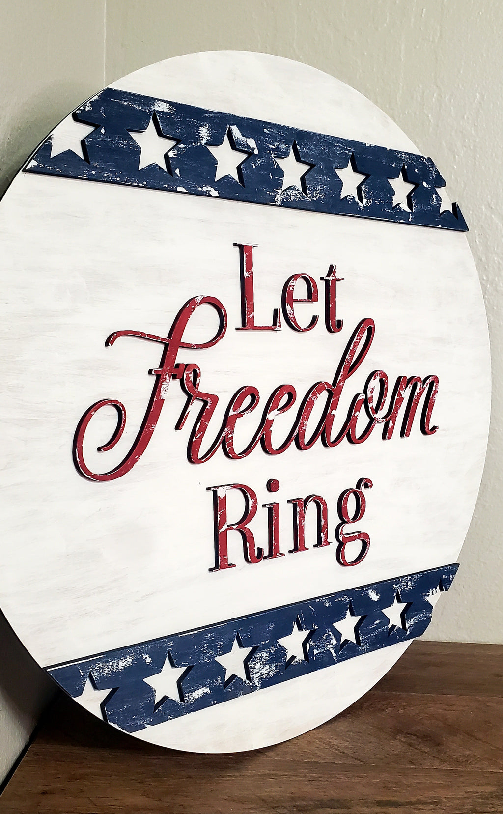 3D Door hanger Let Freedom Ring