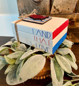 Tiered Tray Mini Book Stack - Land that I love