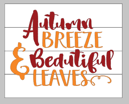 autumn breeze and beautiful leaves