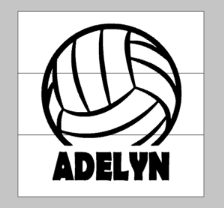 Volleyball with name