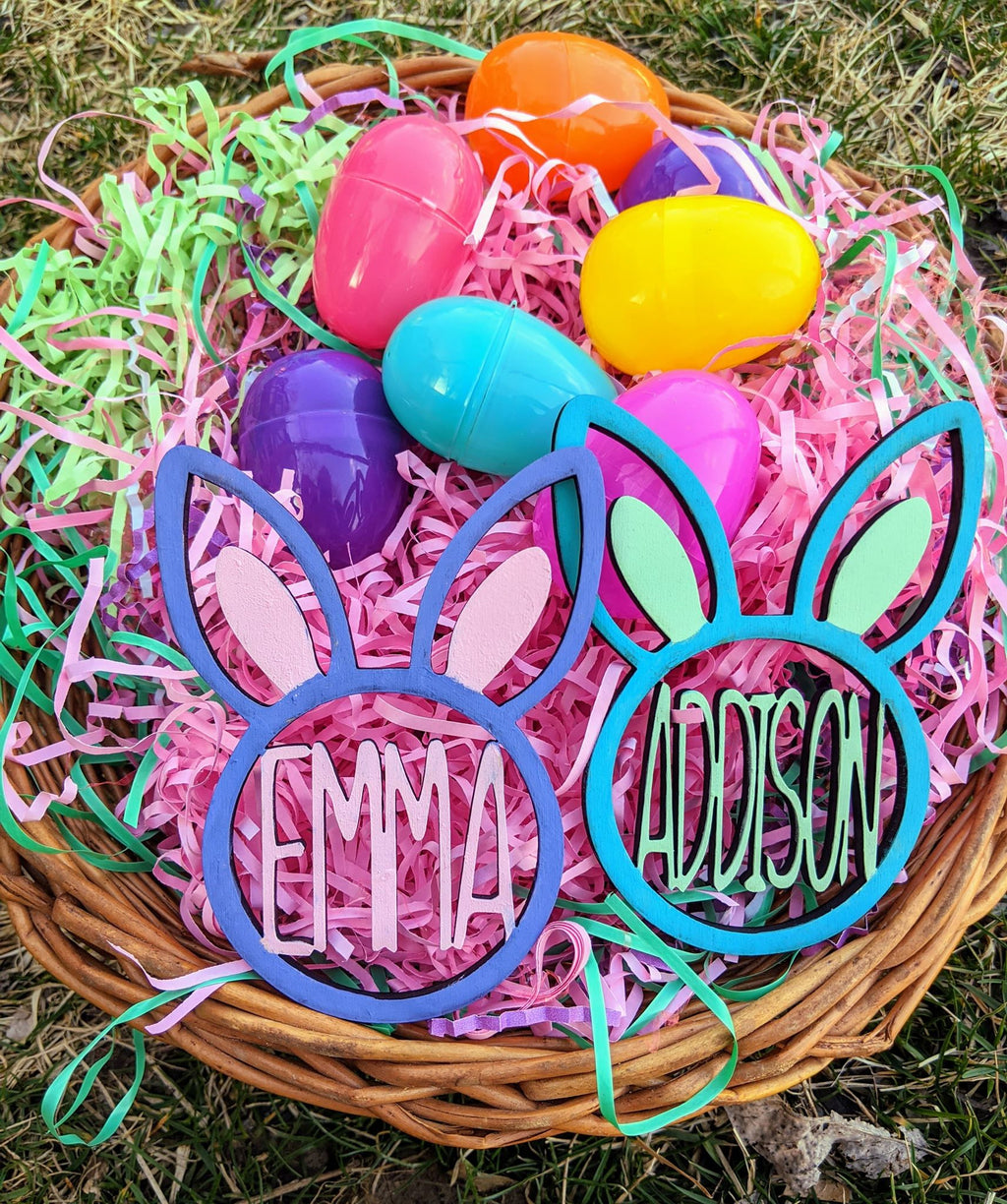 Personalized Easter Basket 3D Name Tags