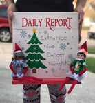 Daily report with Chalkboard tree and shelf (Elf on shelf)