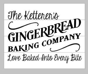 Gingerbread baking company with family name