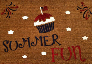 Summer Fun with cupcake and fireworks
