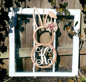 Door hanger Bunny with Letter