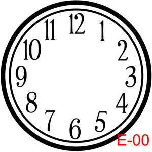 Clock - Numbers with Circle border (E-00)