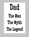 Fathers Day Tiles - Dad Man Myth Legend