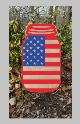 Door hanger American Flag