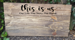 This is us - Our Life Our Story Our Home -  Photo Board