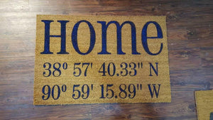 Home with coordinates