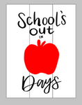 School's out number of days