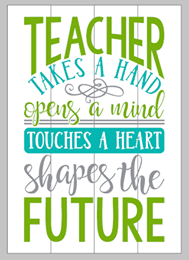 Teacher-takes a hand and opens the mind