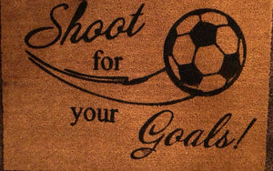 Shoot for your goals with soccer ball