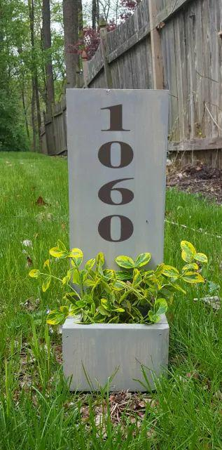 Succulent Planter Box- house number