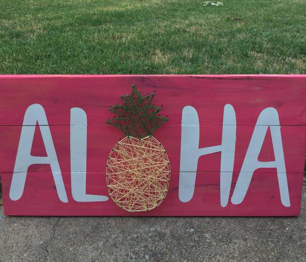 String Art - Aloha Pineapple
