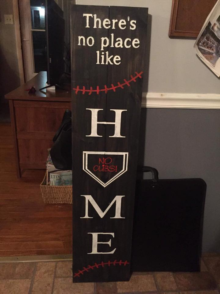 There's no place like home-home plate with family last name