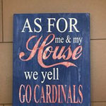 As for me and my house we yell go  STL cardinals