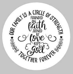 Faith love god ROUND