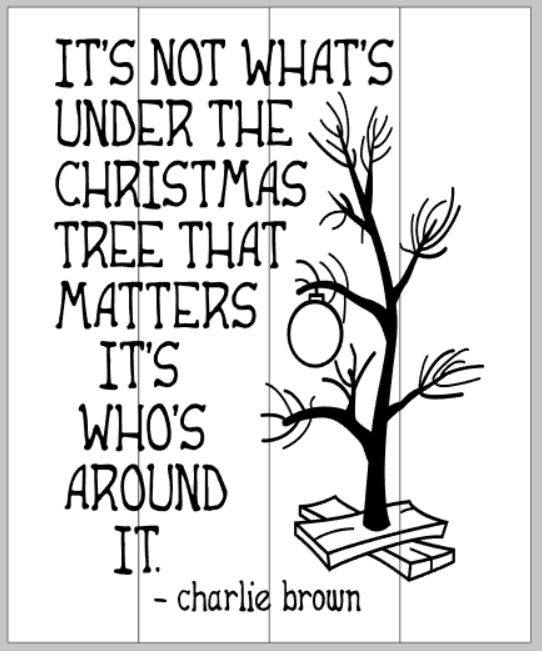 Image result for its not whats under the christmas tree